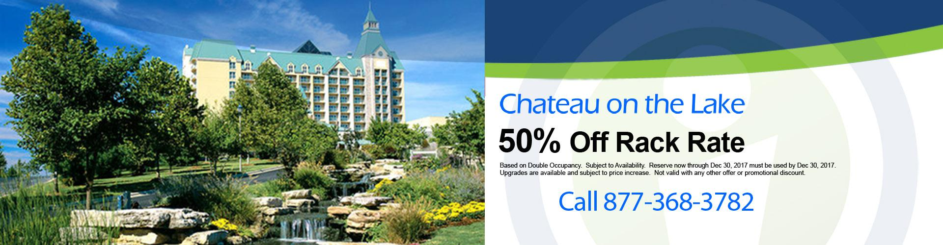 2017 Chateau on the Lake Phenomenal Deal! Limited Quantities.